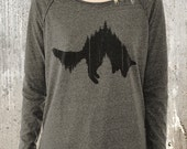 Women's Pullover Sweater - Fox and Forest - Alternative Apparel Women's Pullover - Women's Small - XL Available