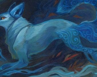 Fox Spirit- Acrylic Painting on canvas
