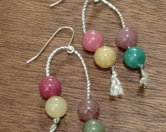 Dyed Agate Earrings  (E1037)