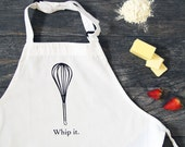 Whip It - Whisk Funny Screen Printed Cotton Kitchen Apron