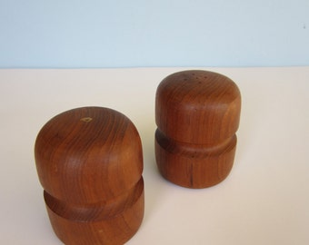 Mid-Century Modern Teak Salt & Pepper Shakers