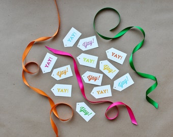 Yay! Gift Tags - 18 pack