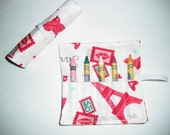 Eiffel Tower Party Favors, Crayon Roll Up, Hearts, Valentine Favors, Valentine Crayon Roll, Crayon Roll, eiffel tower party favor
