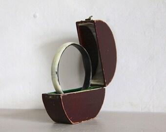 Antique Bangle Box, Leather  Display Box, Presentation Box, Wedding, Jewelry Display.