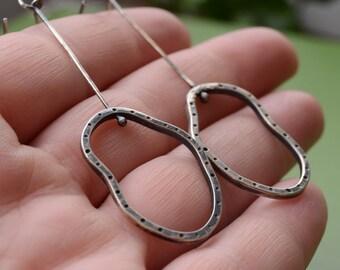 Sterling Silver Dancing Dots Dangle Earrings