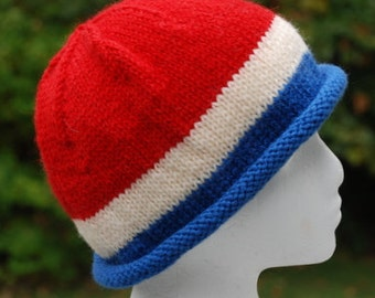 hand made colorful rolled edge watch cap