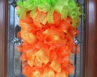 Big Deluxe Easter Carrot Wreath