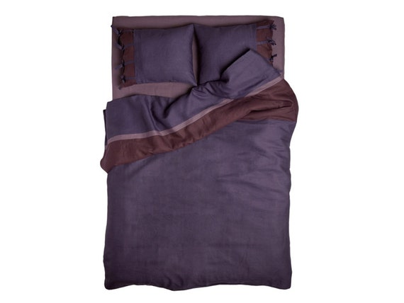 Linen duvet King duvets Queen duvet cover Twin linen duvets Full Double or custom size bedding My Purple Provence Dream