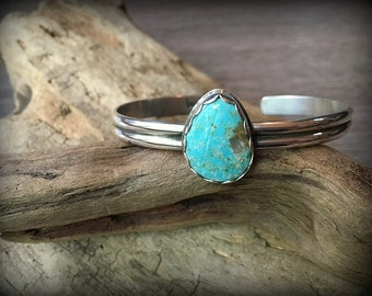 Sterling Silver Turquoise Stacking Cuff