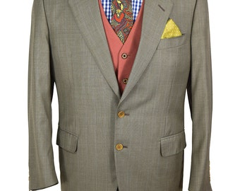 Barneys New York Canali Italian Made 40S Exceptional Well Tailored Men's Lightweight Wool Blazer