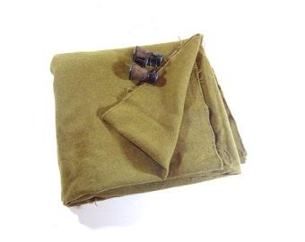 Vintage US Army Green Wool Blanket