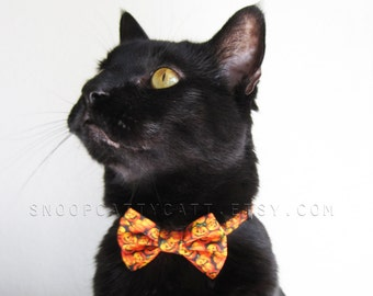 SALE!  Cat Bow Tie - Classy Jack - Halloween Cat Accessory