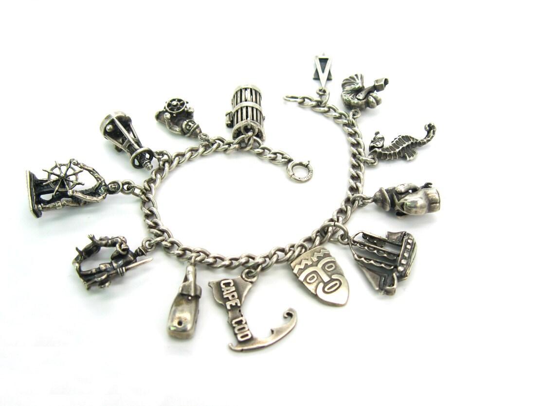silver charm bracelet cape cod nantucket modernist ella l