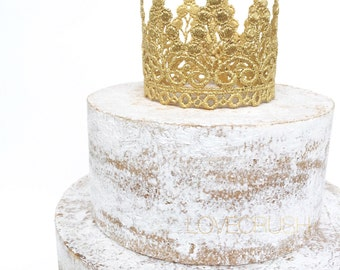 Ready to Ship || WASHABLE || cake topper || Piper || gold, rose gold, or silver || lace crown