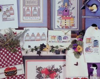 Sherrie Stepp Aweau Cross Stitch Pattern Book KITCHEN STITCHIN' By Cross My Heart Designs By