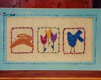Angel Stitchin SPRING Counted Cross Stitch Pattern Chart