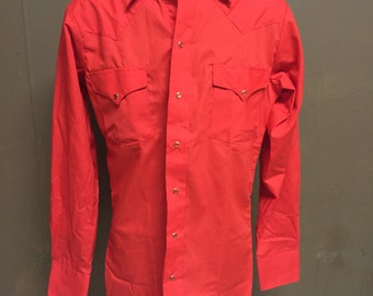 Deadstock Fitted Panhandle Slim Western Shirt - Size XS or Small, 14.5 x 34