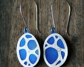 Organic Pattern Earrings, Lightweight Elegant Everyday Earrings