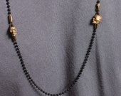 Jewelry for men - till death do us part - Skull jewelry - chain necklace with gold skulls - Jewelry for Men and Women