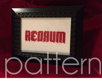 Redrum The Shining Cross Stitch Pattern