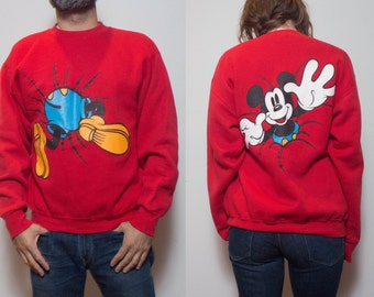 LRG | 90's Mickey Mouse Sweatshirt in Red