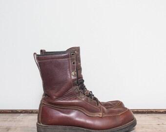 7.5 D | Men's Vintage Work Boots John C. Roberts Outdoorsman Boots