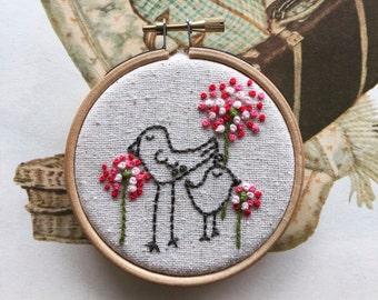 hand embroidery kit | embroidery kit | modern embroidery kit | DIY embroidery | eunice and oliver birds among the fleurs