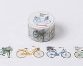 Bicycle Washi Tape (30mm X 10M)