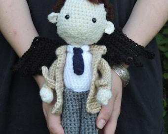 Castiel Doll, amigurumi Supernatural angel crochet made to order