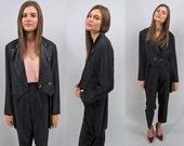 Vintage 80s Tuxedo Jacket, Soft Jacket, Soft Tux Jacket, Tuxedo Tail Jacket Δ size: sm / md
