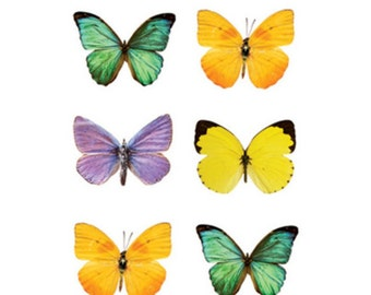 2 packs - 60 Mini Butterfly - stickers for scrapbooking , altered art or card making