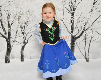 Anna's Adventure Dress - Sizes 2T, 3T, 4T, 5, 6, 7, 8 and 10