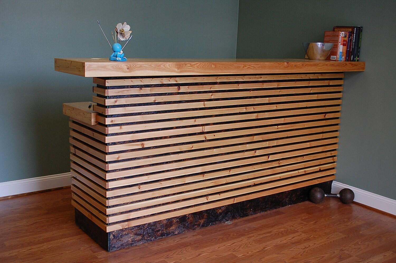 Wooden Desk Designs ~ Urbandrift reception desk