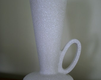 Vintage Atomic Lava Speckled White Pitcher Hager USA Original Mid Century