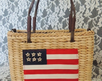 Rockabilly Straw Tote / Purse / Handbag