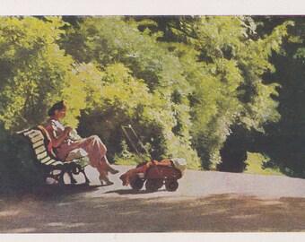 """A. Laktionov """"Silence"""" Postcard -- 1963"""