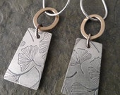 Voila Earrings  ~ Ginkgo Leaf