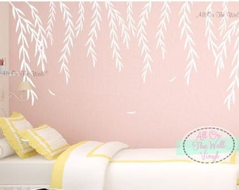 Willow Tree Wall Decal Willow Branches Decal Bedroom Decal Baby Nursery  Tree Decal Kids Tree Decals