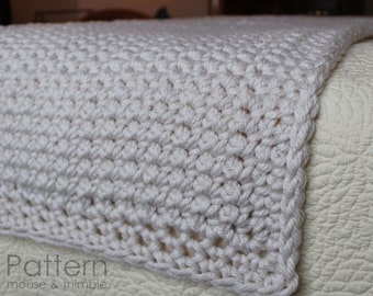 Chunky Fleece Baby Blanket Super Bulky Crochet By