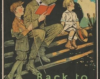 Back to Nature Vintage 20s book promotion poster digital download