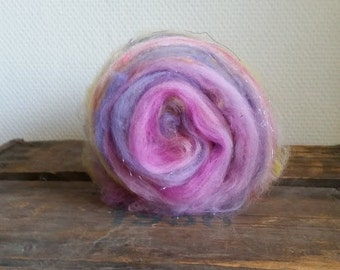 Flower 1: Art Batt for spinning or felting by Star Fiber Studio 50 g / 1.75 oz