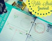 Bible Study Printable Journal, Prayer Journal, Bible Journaling, Daily Bible Planner, Bible Planner, Bible Diary, Green and Pink