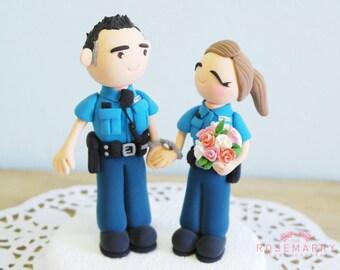 Custom Cake Topper- Police Couple