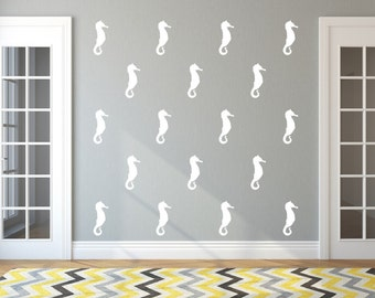 Seahorse Wall Decals | Vinyl Wall Decals | 5 Inch Seahorse Decals | Nautical Wall Decals | Beach Decor | Beach Decals | Style A 22564