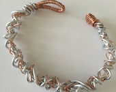 Twisted wire bracelet jewelry, Boho Statement jewelry, copper jewelry, aluminum jewelry, bracelet, handmade unique jewelry, copper jewellery