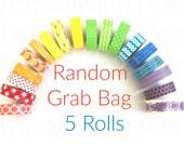 Random Washi Tape Grab Bags: 5 Rolls