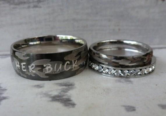 camo wedding rings matching camo set camo wedding bands his