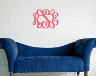 """18"""" Monogram Door Hanger - Custom Monogram Door Hanger - Wedding Gift - Mantle Decor - Unfinished or Painted - 18"""" Size"""