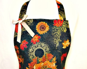 Apron, GOLDEN Harvest, HOLIDAY Hostess, Organza Ruffle, Pretty Party Kitchen Gift