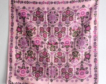 Vintage Scarf Floral Purple